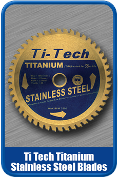 Ti Tech Titanium Saw Blades For Stainless Steel